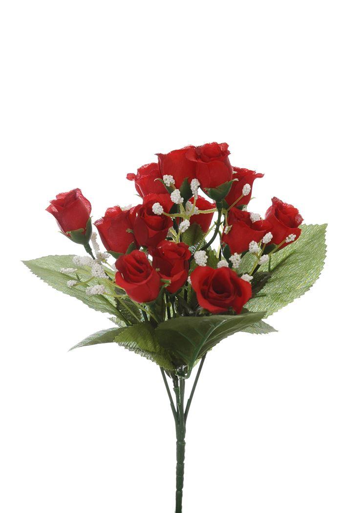 mini rose bud bush x 5 red