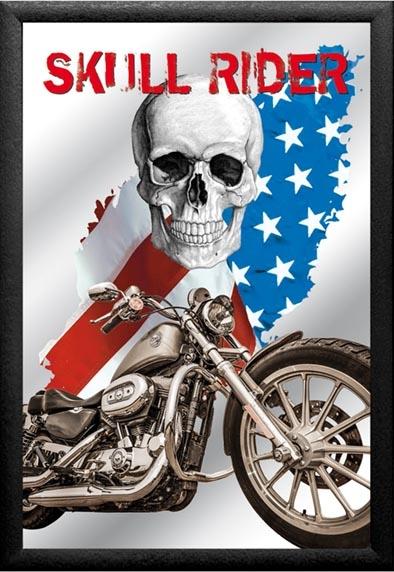 mirror skull rider
