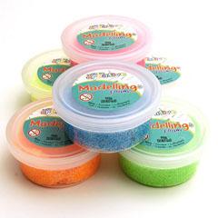 modeling foam glitter fluo mix (6sts)