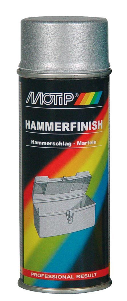motip spray hamerslag - zilver