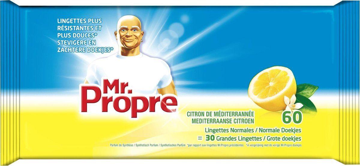 mr proper wipes desinfectant (60sts)