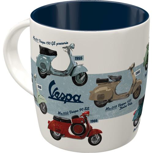 mug vespa - model chart
