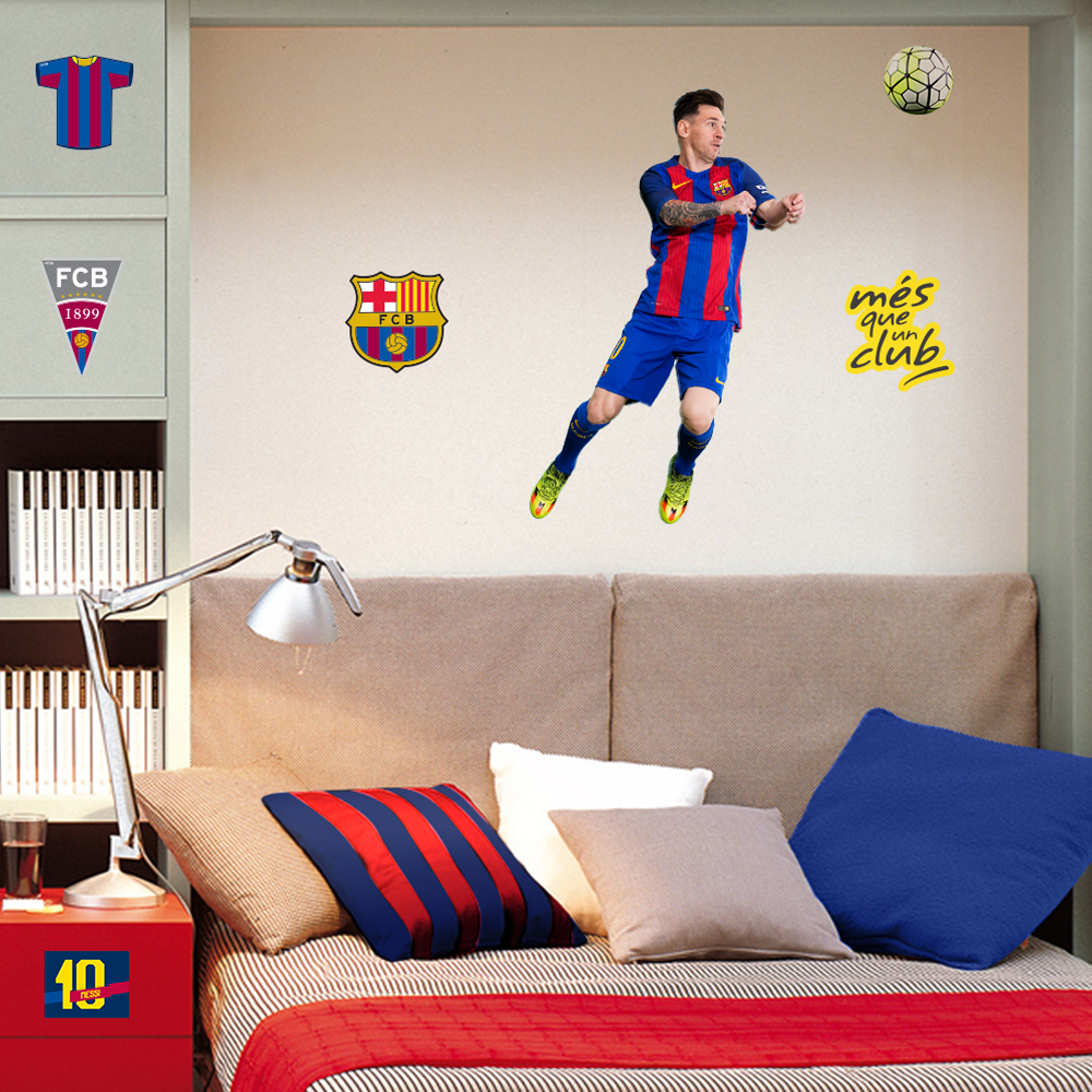 muurdeco - messi 2 sheets a3
