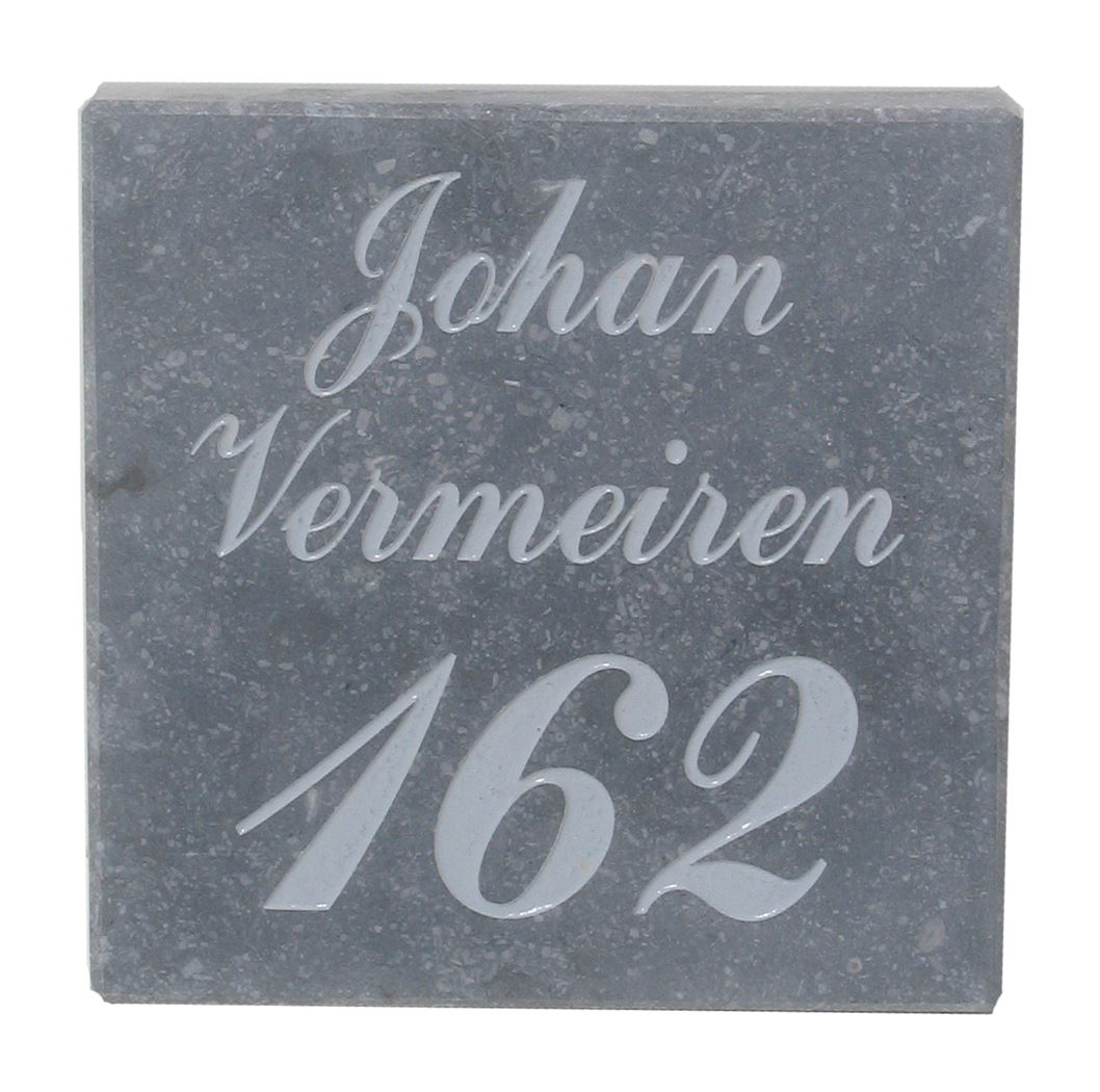 naam & nummergravure brievenbus