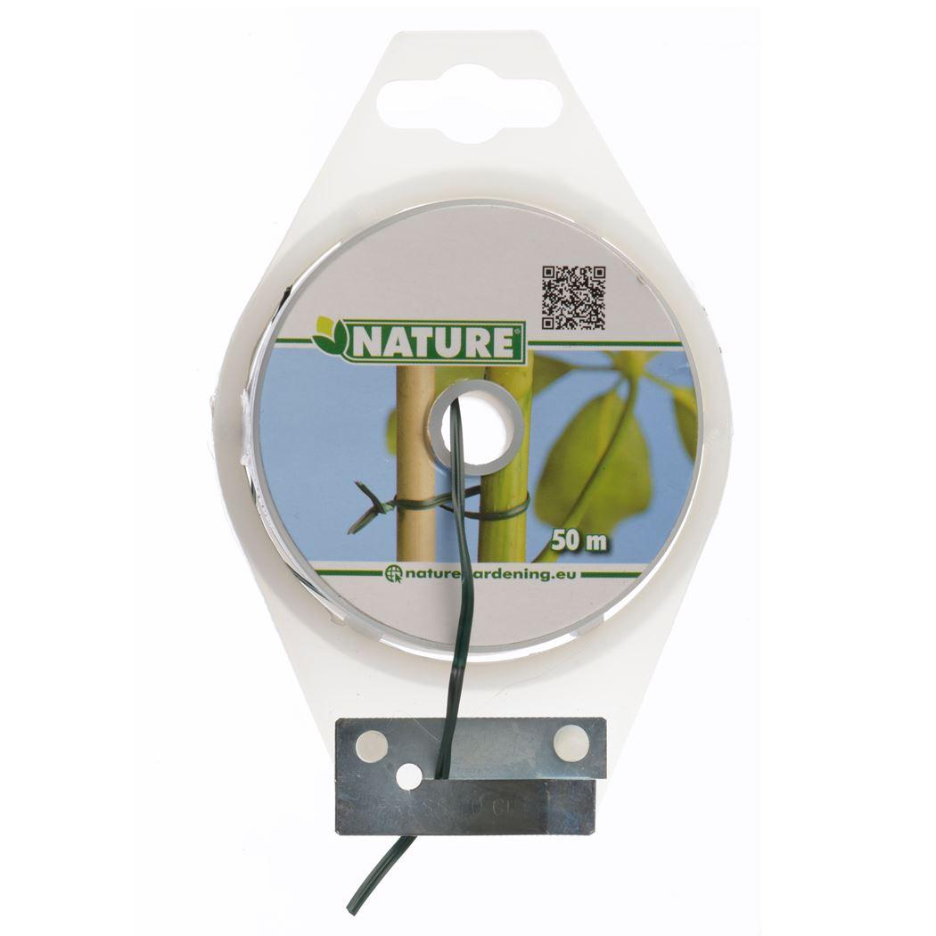 nature bindband met metalen kern groen geplastificeerd