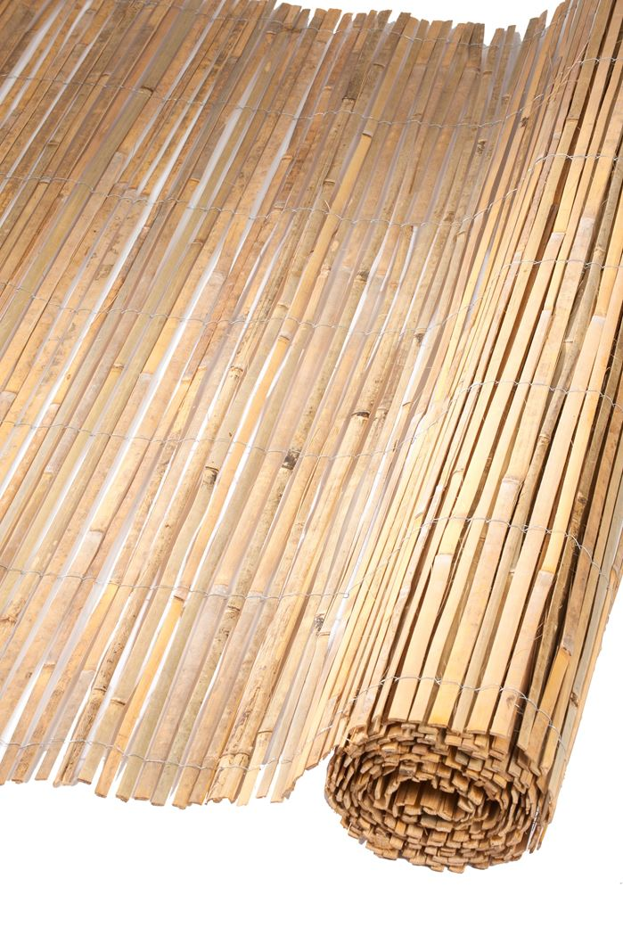 nature gespleten bamboemat naturel