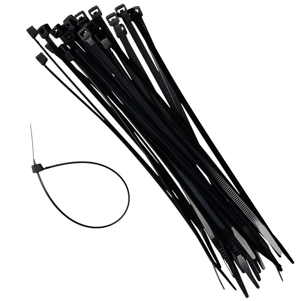nature kabelbinders zwart (25sts)