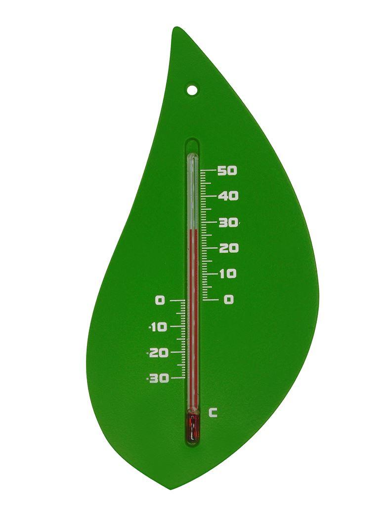 nature kelvin 20, boomblad - buitenmuurthermometer - kunststof, groen