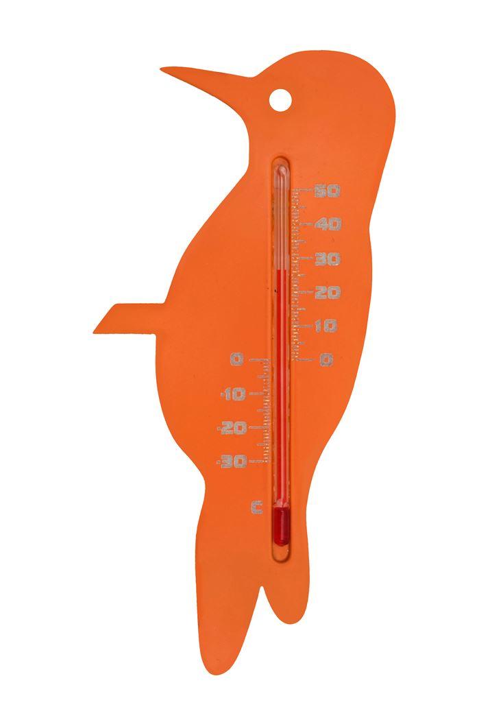 nature kelvin 21, specht - buitenmuurthermometer - kunststof, oranje