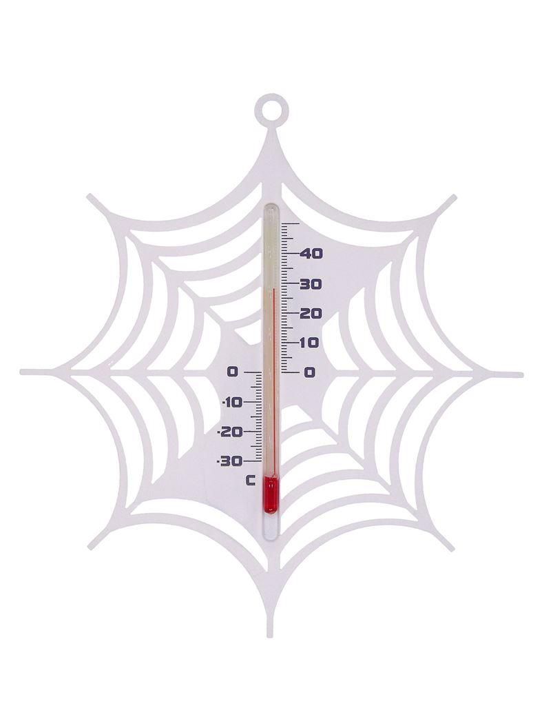 nature kelvin 25, spinnenweb - buitenmuurthermometer - kunststof, wit