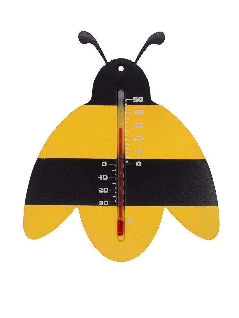 nature kelvin 29, bij - buitenmuurthermometer - kunststof, zwart/geel