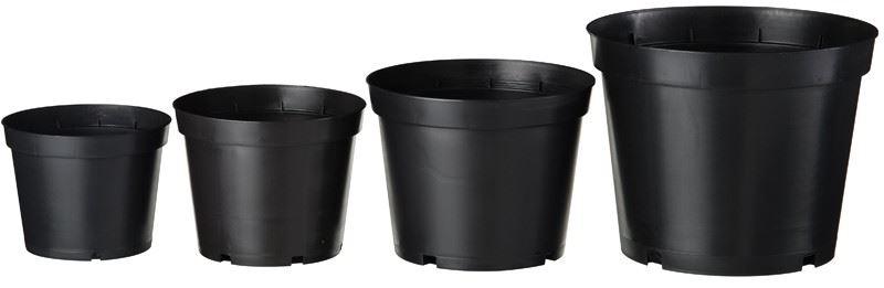 nature plantcontainer zwart (4sts)