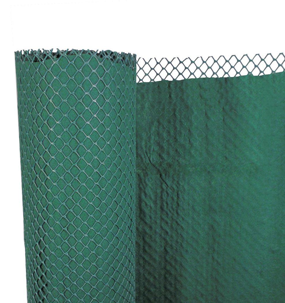 nature wind- en zichtbreek tuinscherm met bevestigingsset duo van kunststofgaas en textiel groen