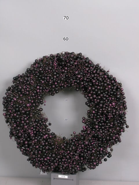 nn large foam berry wreath aubergine