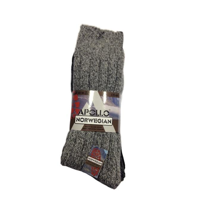 noorse sokken grof norwegian grey (3sts)