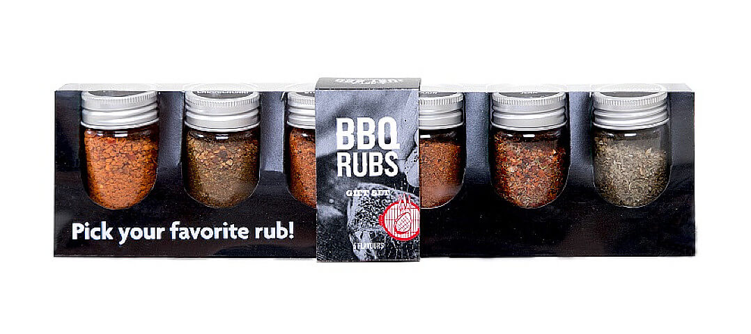 not just bbq rubs giftset (6-delig)