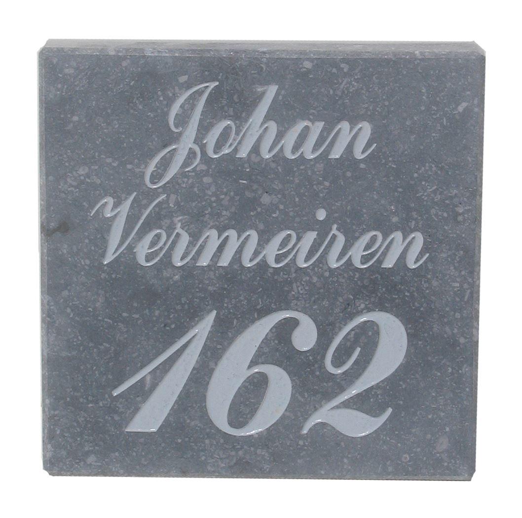 nummergravure op brievenbus
