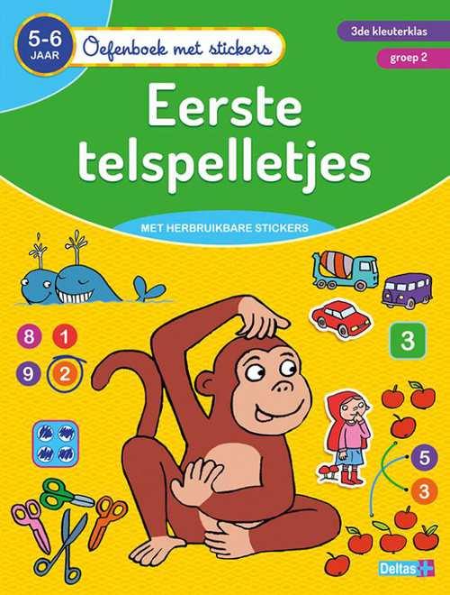 oefenboek met stickers - eerste telspelletjes (5-6 j.)
