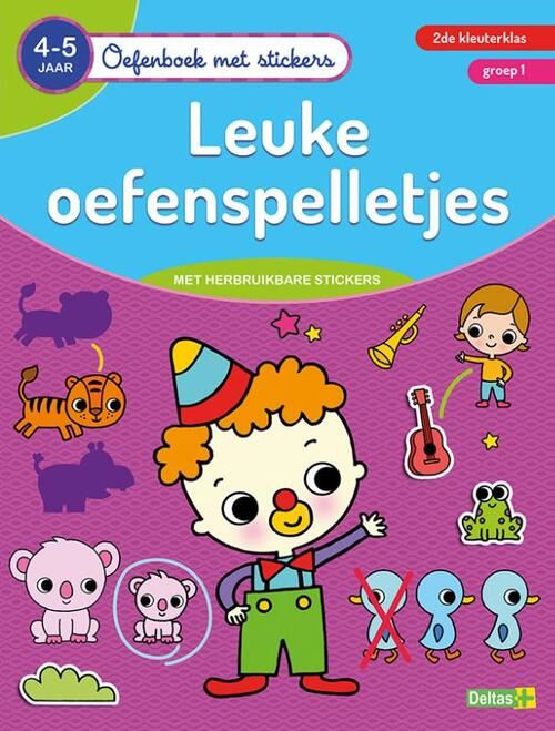 oefenboek met stickers - leuke oefenspelletjes (4-5 j.)