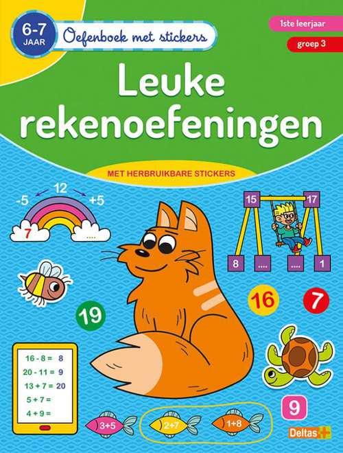 oefenboek met stickers - leuke rekenoefeningen (6-7 j.)