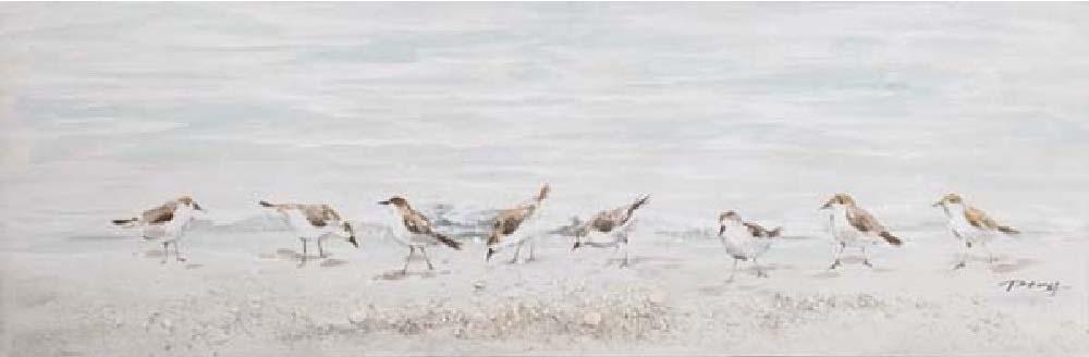 oil painting vogels aan water indoor