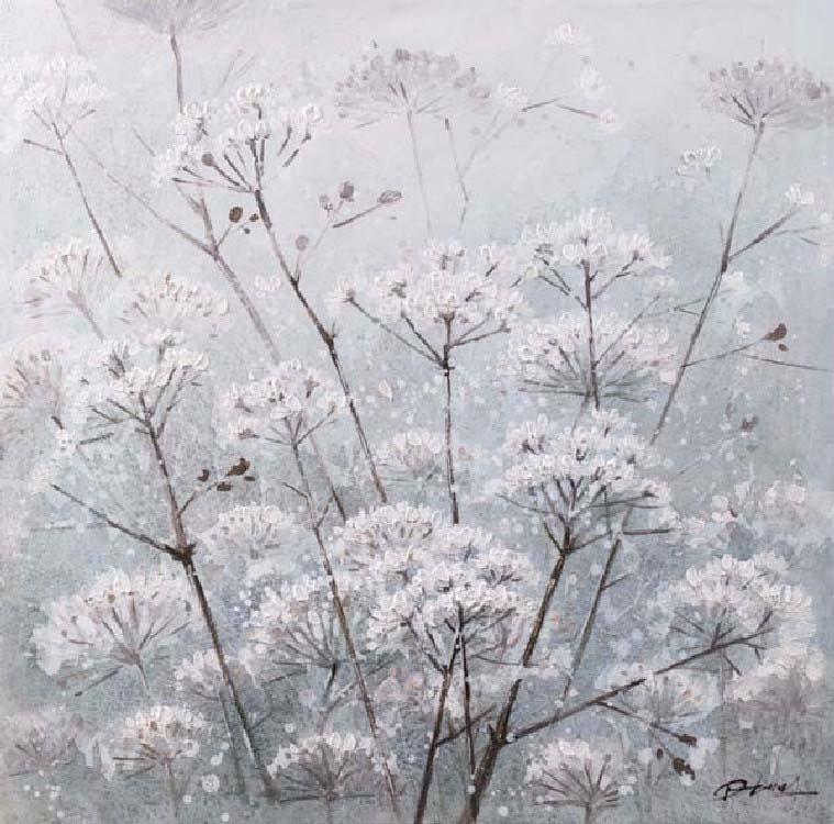 oil painting witte bloemen indoor
