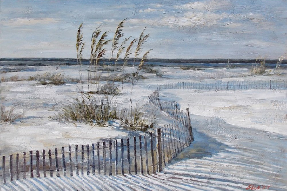 oil painting witte duinen indoor