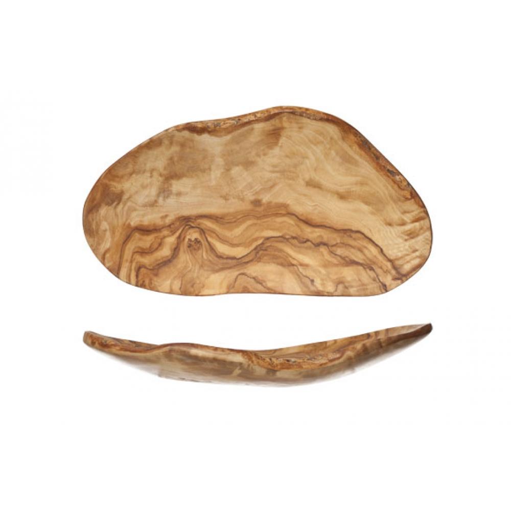olijfhout fruitschaal plat
