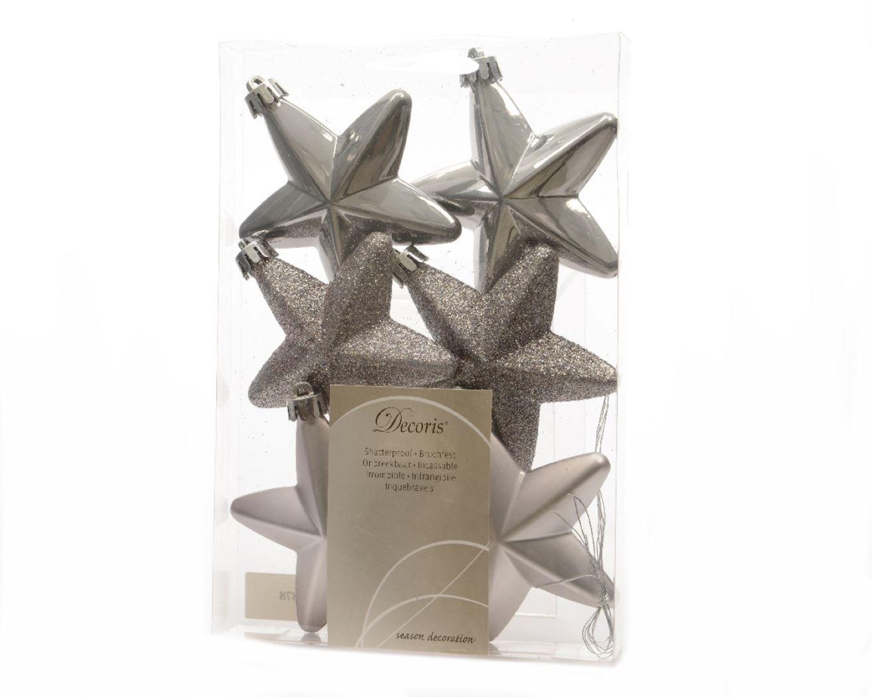 onbreekbare sterren wol grijs (6sts)