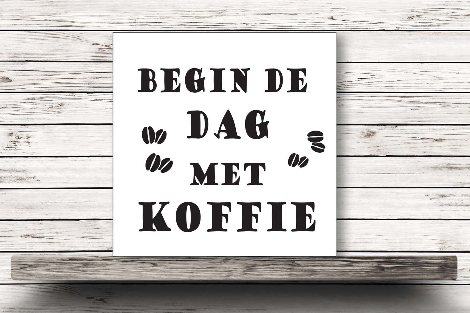 onderzetter wit - begin de dag met koffie