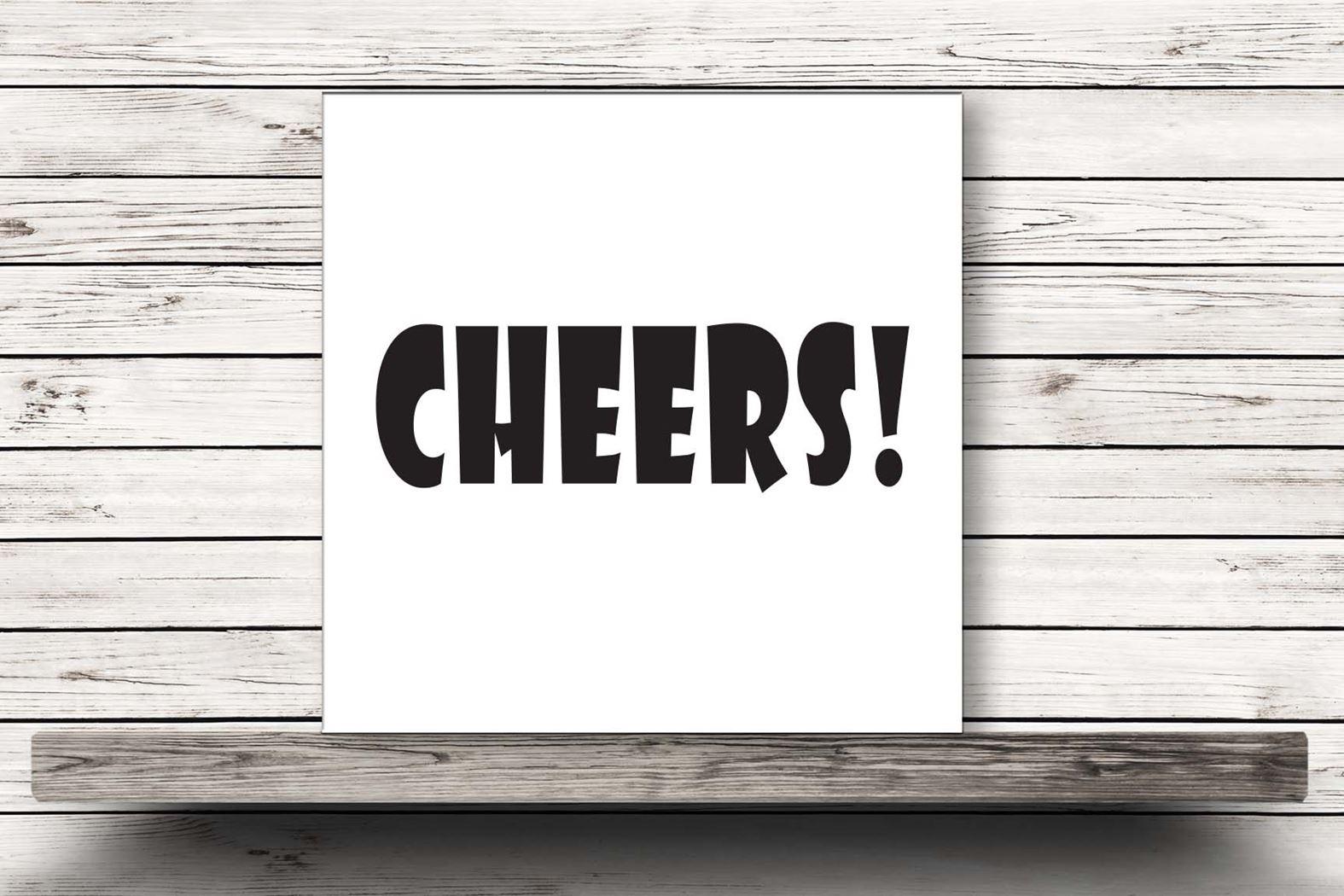 onderzetter wit - cheers!