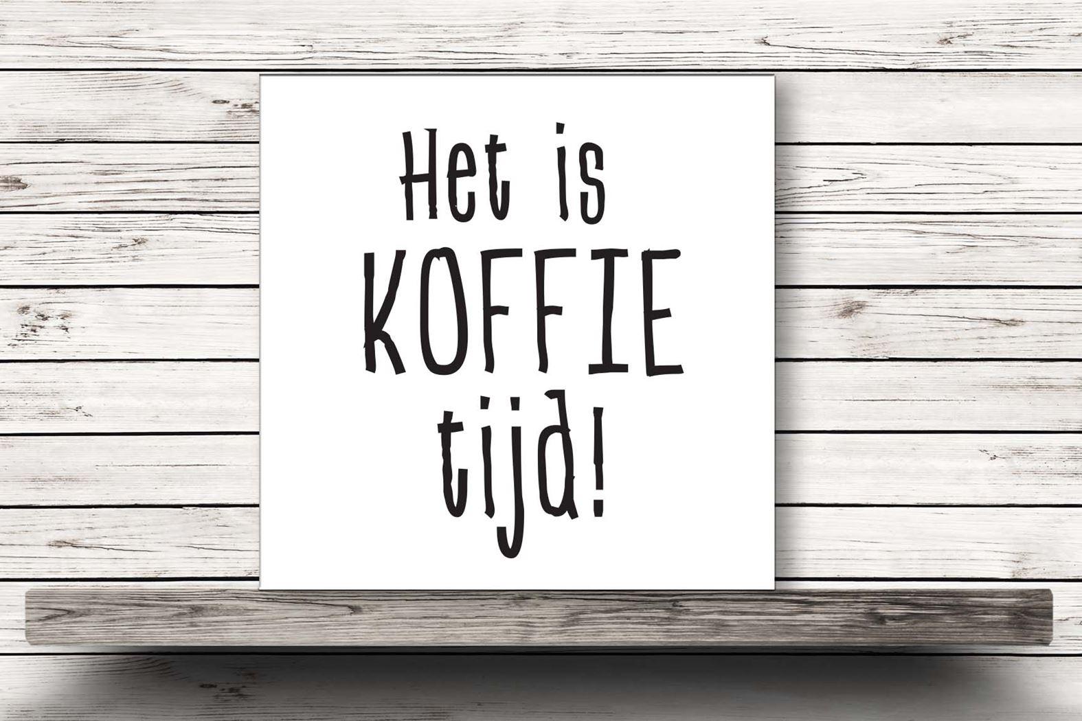 onderzetter wit - het is koffietijd!