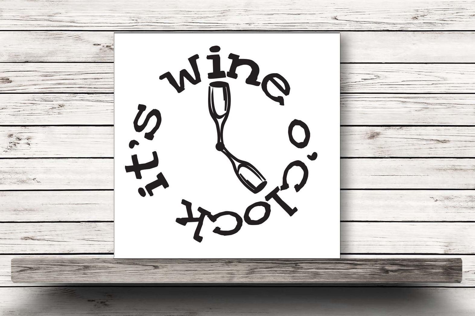 onderzetter wit - it's wine o'clock
