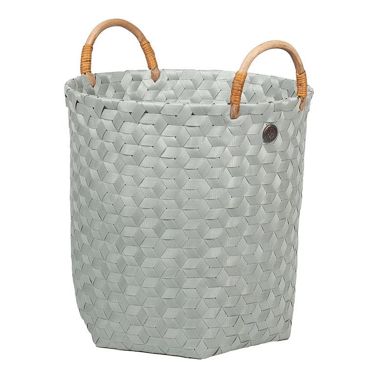 open round basket eucalyptus size  m with rattan handles