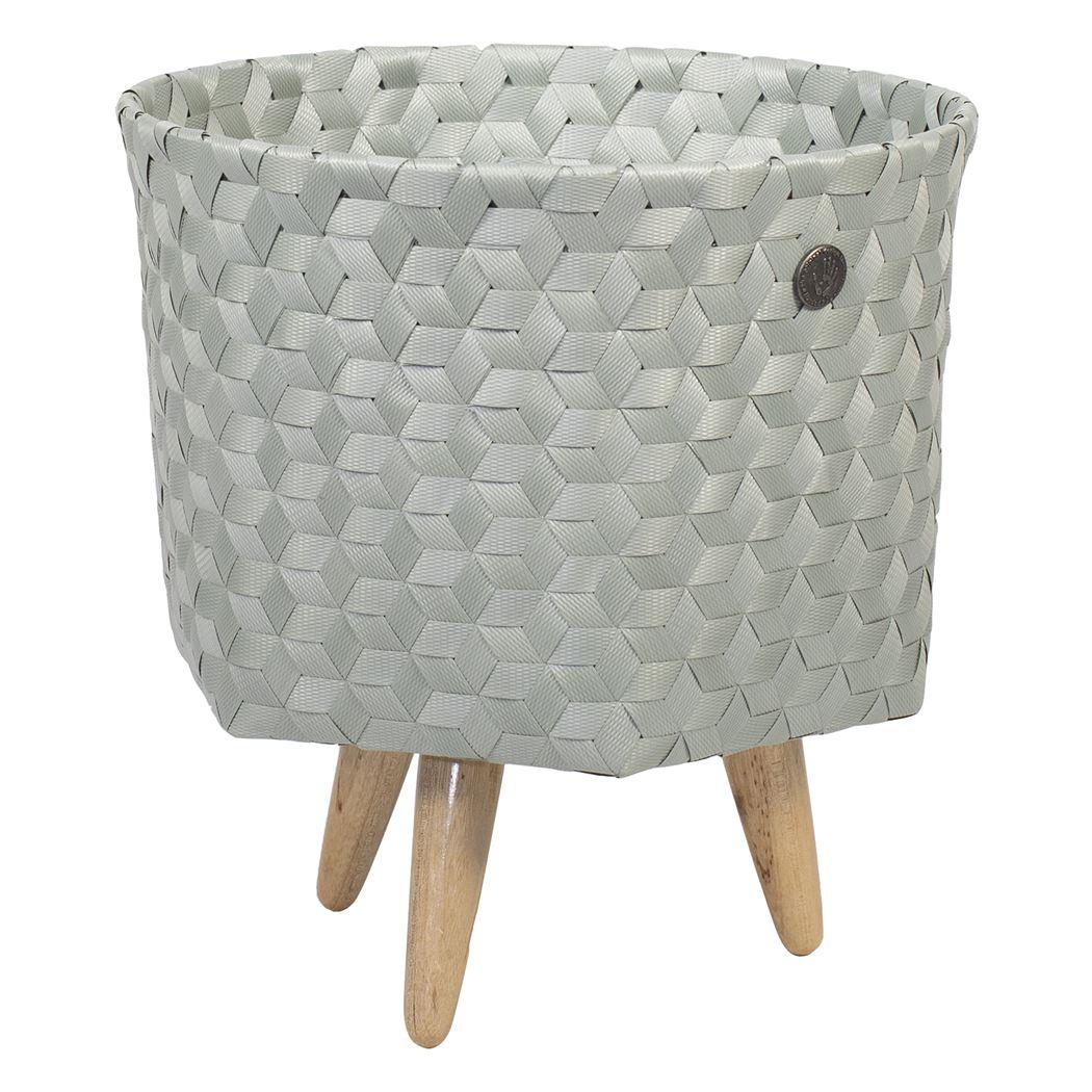 open round basket eucalyptus size s with feet
