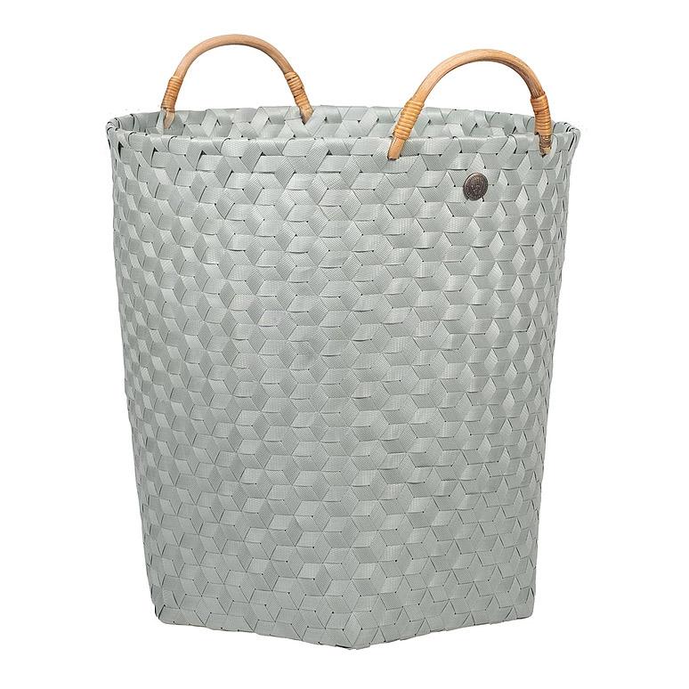 open round basket eucalyptus size xl with rattan handles