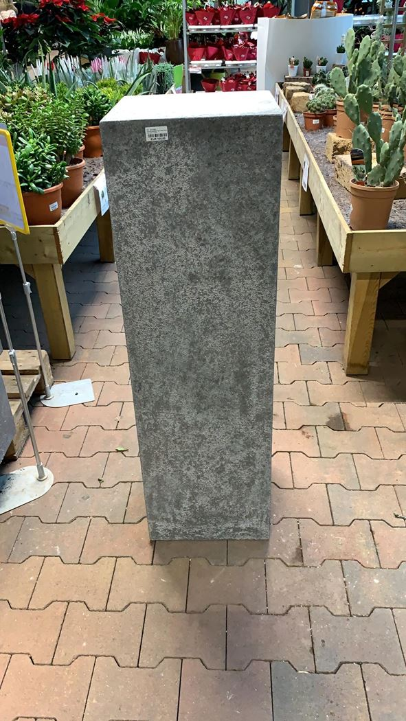 orie pedestal raw metal finish