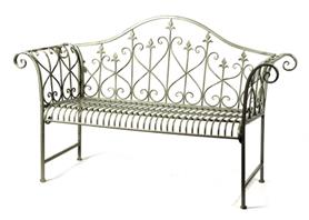 ornament bench lily old grey