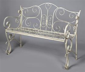ornament bench old white