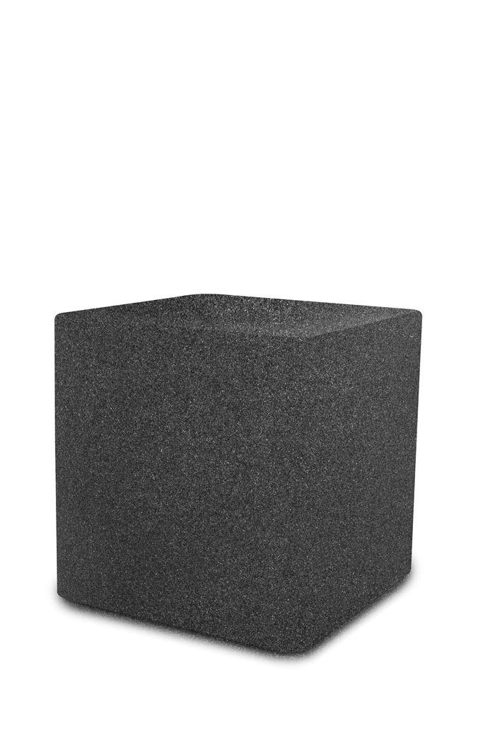 otium bloempot quadris 60 dark stone  new