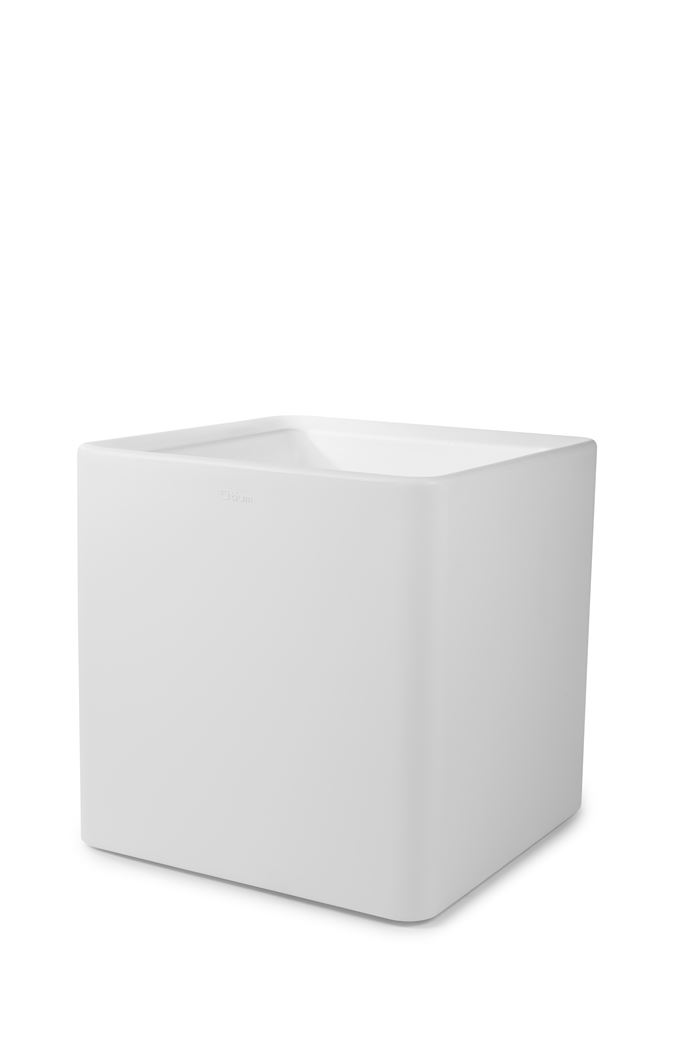otium bloempot quadris 60 white