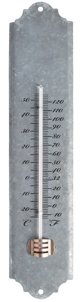 oud zink thermometer