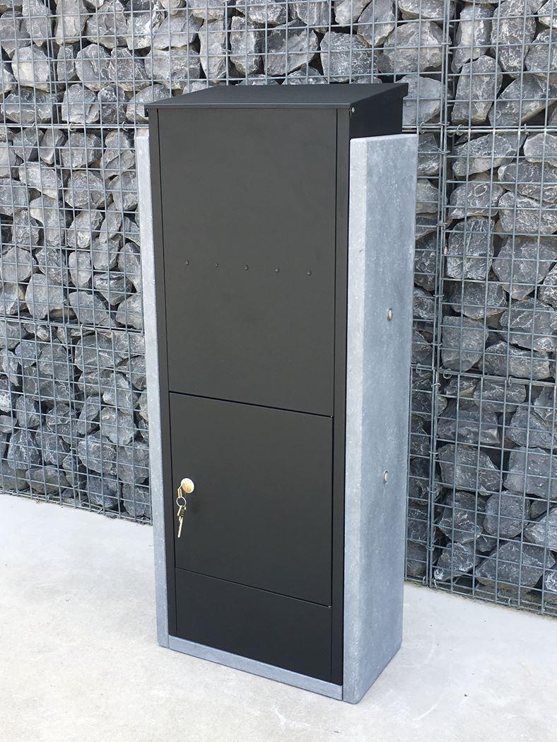 pakketbrievenbus torino big zwart met rear retrieval