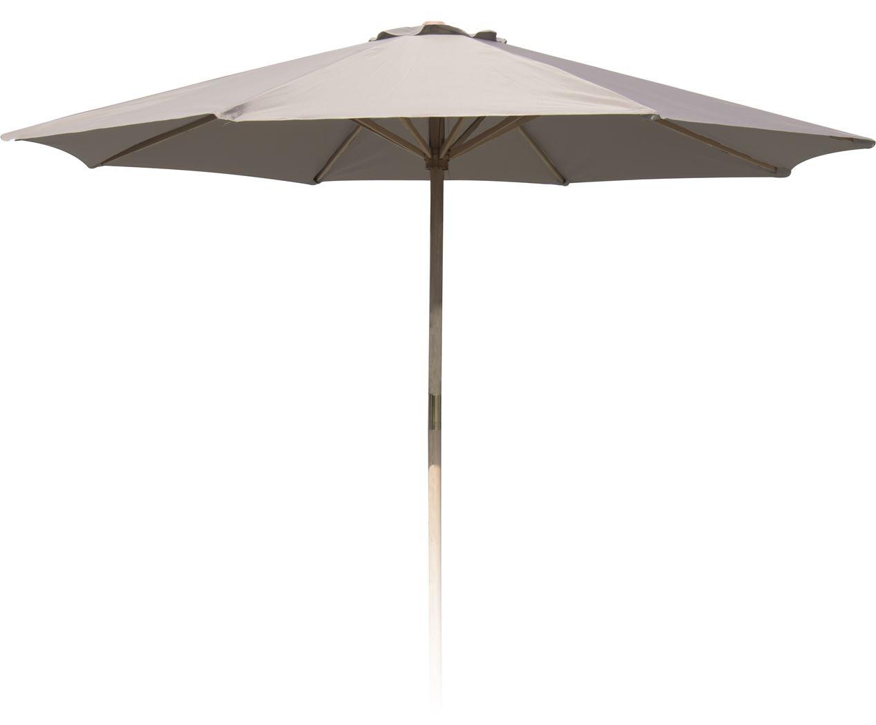 parasol houtstok creme