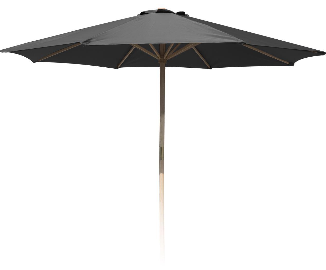 parasol houtstok donkergrijs