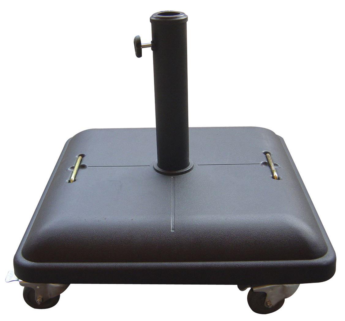 parasolvoet met wieltjes grijs (37 kg)