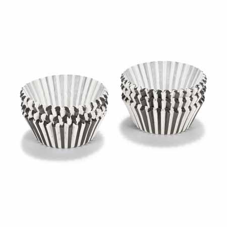 patisse cakevormpjes papier zwart-wit gestreept (200sts)
