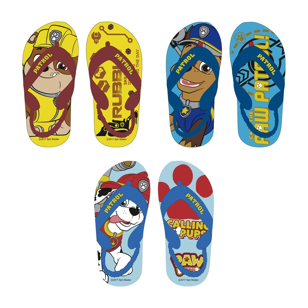 paw patrol flipflops (3ass.)