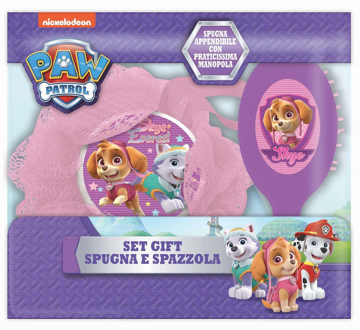 paw patrol gift set (hairbrush & sponge)