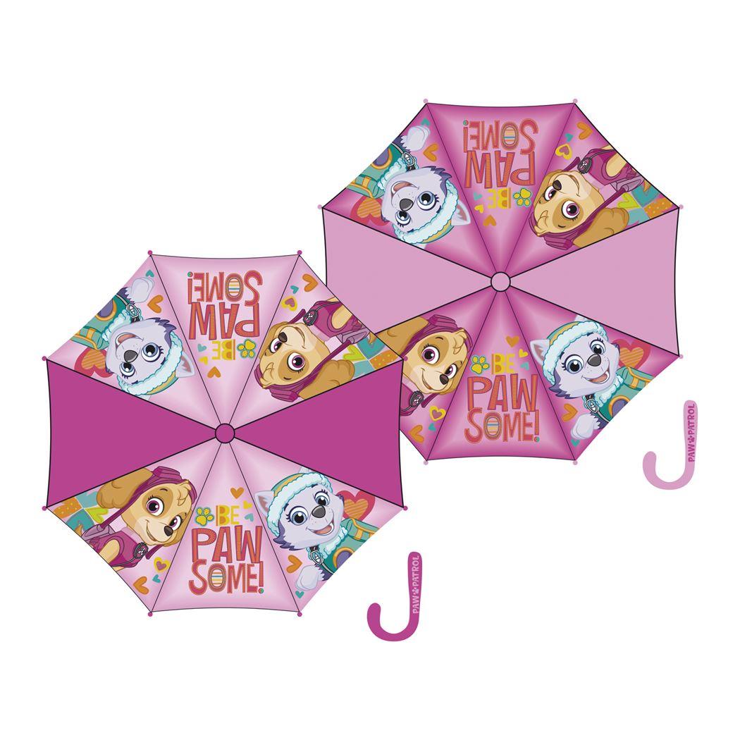 paw patrol girl poly auto umbrella (2ass.)